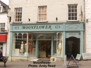 Moonflower shopfront.  Photo by Andy Read.