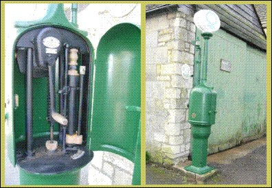 1920s Nailsworth Petrol Pump after restoration