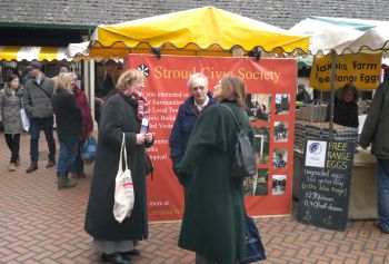 SCS Stall at Stroud Farmers' Market Feb 2011