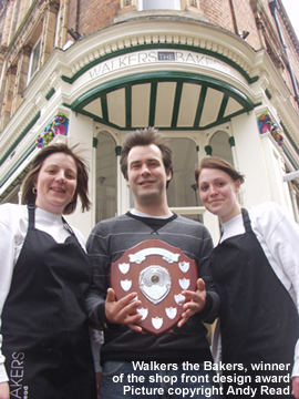 Walkers the Bakers, winner of the shop front design award.  Picture copyright Andy Read