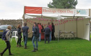 The SCS Marquee at the Heritage Open Day at Lypiatt Park