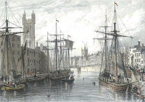 St Augustines Reach from the Quay Head 1755