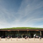 Gloucester Services - front - entrance close-up, no cars