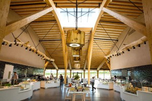 Gloucester Services - interior - view through servery.