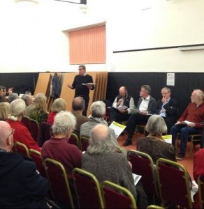 Stroud News and Journal's coverage included a photograph of the meeting.